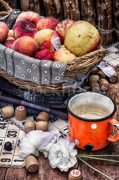 fruit basket and game lotto Stock photo © nikolaydonetsk