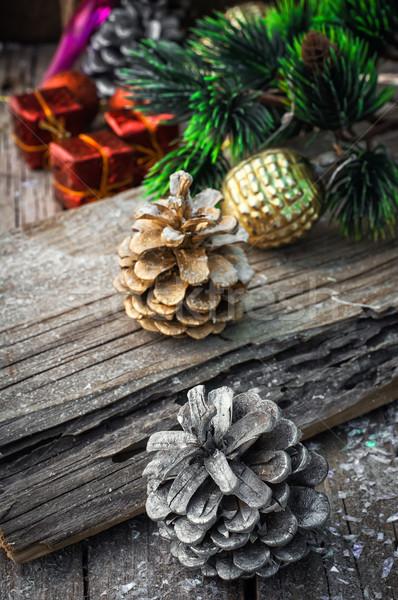 クリスマス 装飾 おもちゃ 木製 雪 ストックフォト © nikolaydonetsk