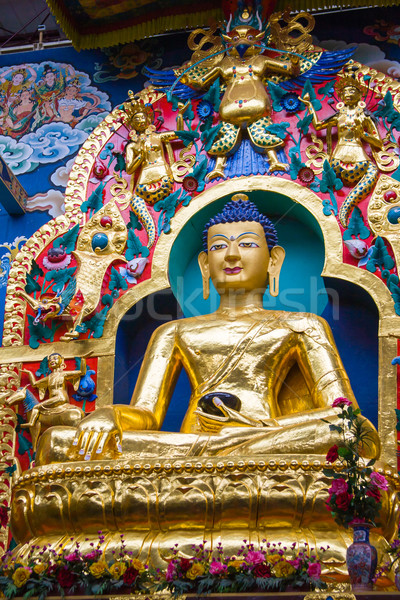 Gouden buddha groot verguld godheid Stockfoto © nilanewsom