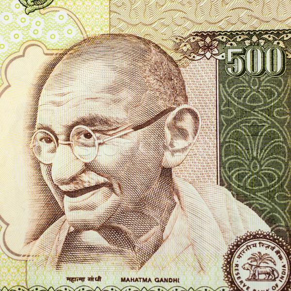 Portret indian vijf honderd business Stockfoto © nilanewsom