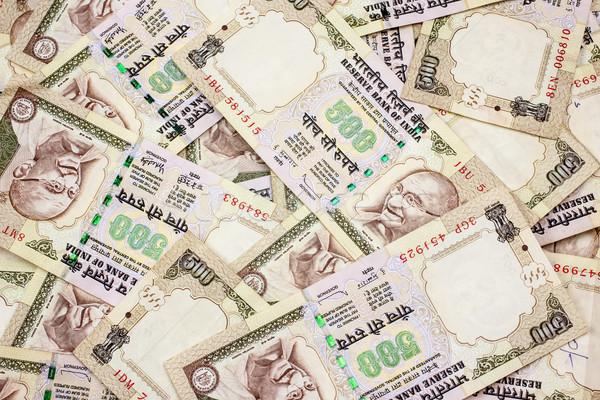 Duizend merkt indian business papier achtergrond Stockfoto © nilanewsom