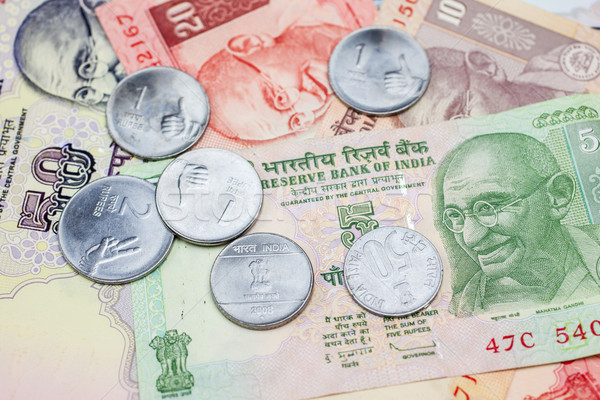 Indian valuta klein los verandering Stockfoto © nilanewsom