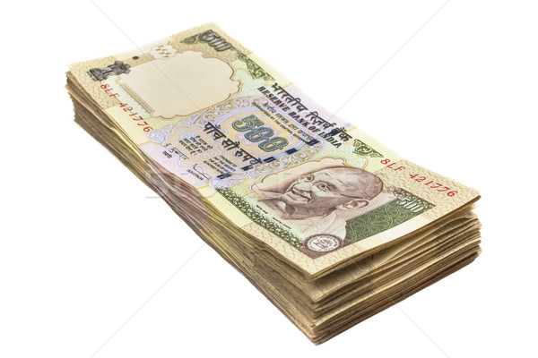 Indian valuta 500 merkt geïsoleerd Stockfoto © nilanewsom