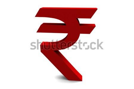 Symbool indian geïsoleerd witte geld textuur Stockfoto © nilanewsom