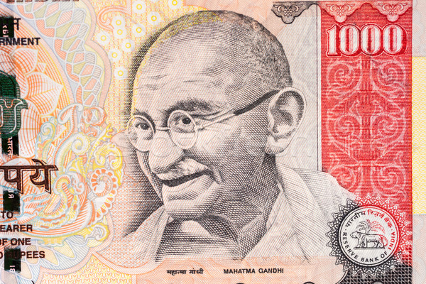 Portret indian business papier achtergrond financieren Stockfoto © nilanewsom