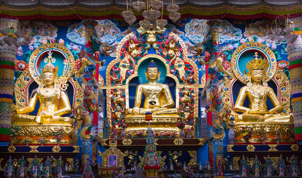 Monastero altare buddha lucido Foto d'archivio © nilanewsom