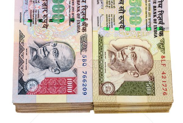 Indian valuta 500 1000 succes cash Stockfoto © nilanewsom