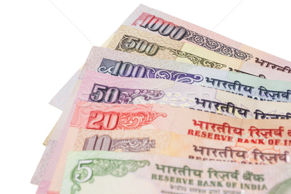 Indian valuta 500 1000 merkt geïsoleerd Stockfoto © nilanewsom