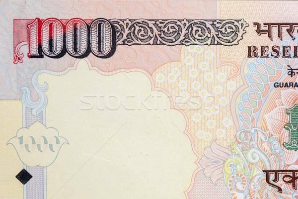 Indian valuta nota geïsoleerd witte Stockfoto © nilanewsom
