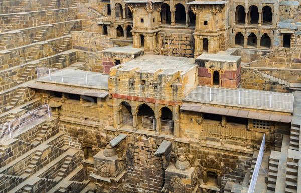 Dorp noord-india gebouw reizen steen baksteen Stockfoto © nilanewsom