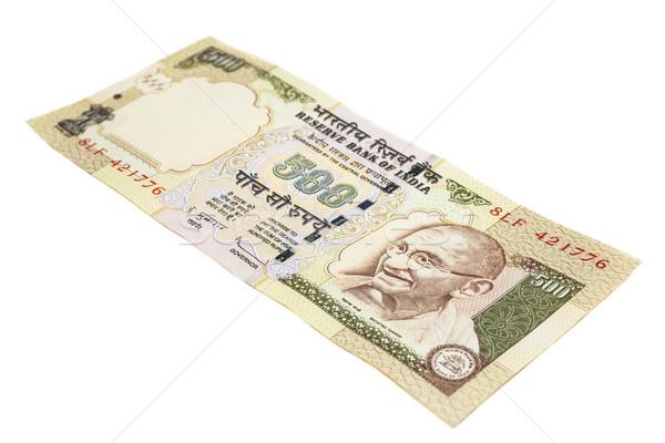 Indian valuta vijf honderd nota geïsoleerd Stockfoto © nilanewsom