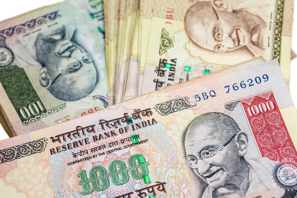 Indian groot valuta business papier Stockfoto © nilanewsom