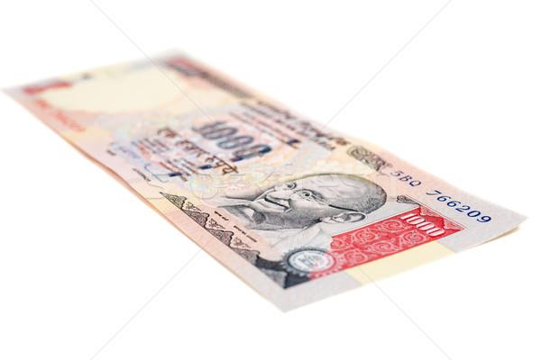 Indian valuta nota geïsoleerd witte business Stockfoto © nilanewsom