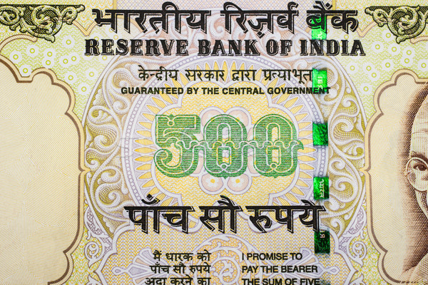 500 indian geld achtergrond bank Stockfoto © nilanewsom
