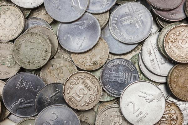 Munten los verandering achtergrond bank Stockfoto © nilanewsom