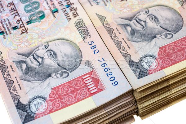 Mil notas 1000 indio aislado blanco Foto stock © nilanewsom