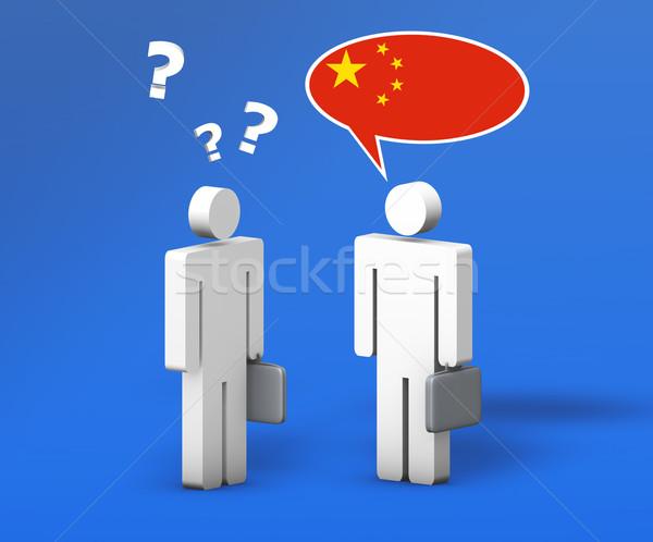 Business cinese mandarino chat divertente conversazione Foto d'archivio © NiroDesign
