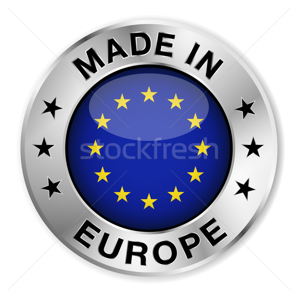 Made In Europe Silver Badge Stock photo © NiroDesign