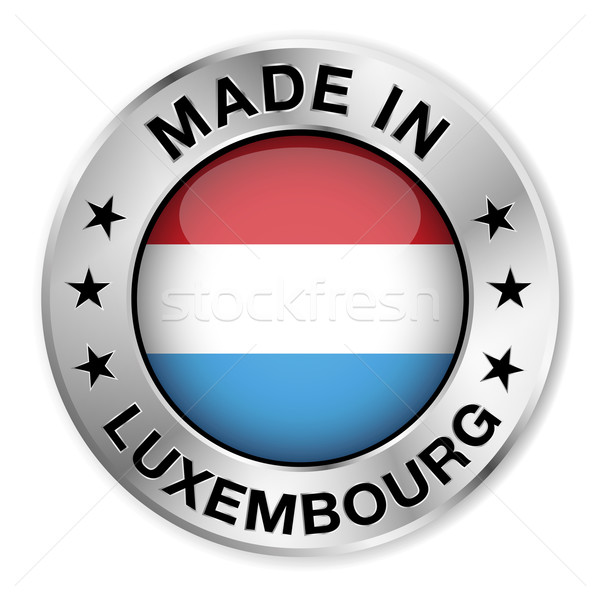 Made In Luxembourg Silver Badge Stock photo © NiroDesign