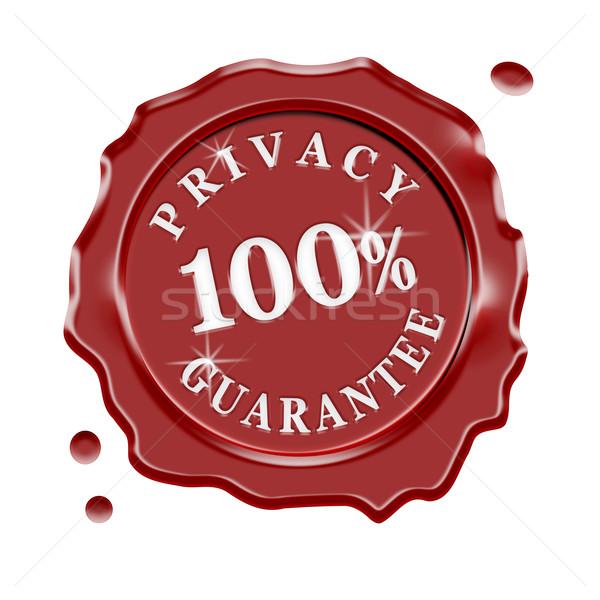 Stock photo: Privacy Guarantee Wax Seal