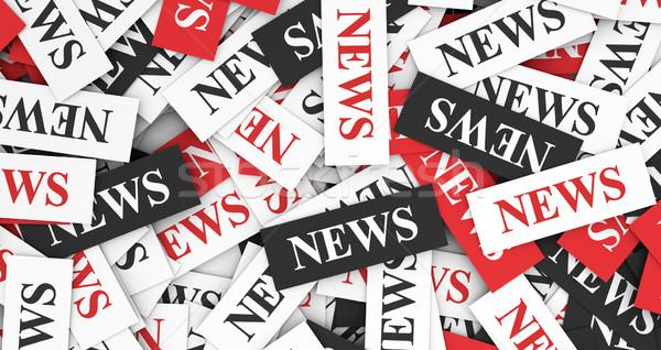 Noticias signo texto papel Internet periódico Foto stock © NiroDesign