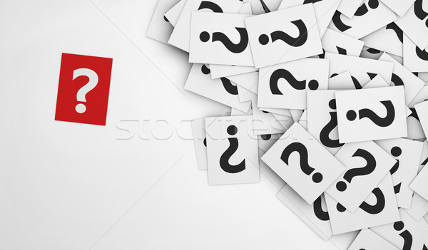 Question Mark Red Paper Stock photo © NiroDesign