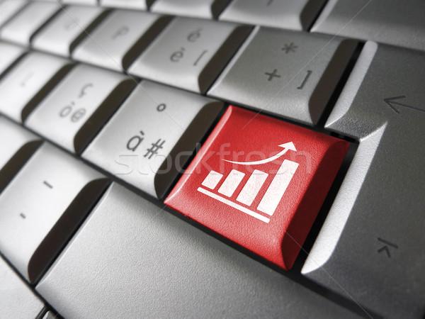 Línea negocios crecimiento positivo creciente gráfico de barras Foto stock © NiroDesign
