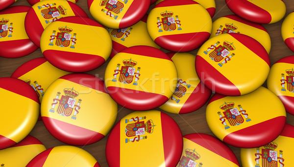 Spain Flag Badges Background Stock photo © NiroDesign