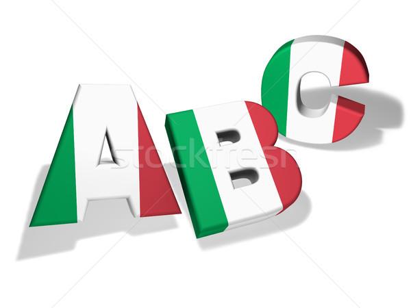 Italienisch Schule Sprache Bildung Briefe Italien Stock foto © NiroDesign