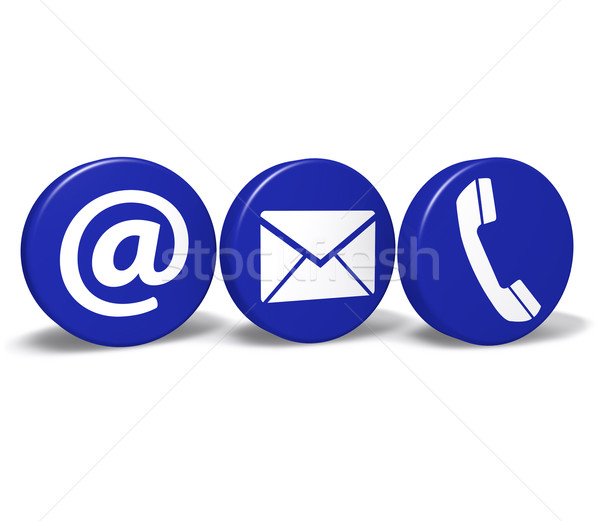 Contact Us Web Buttons Stock photo © NiroDesign