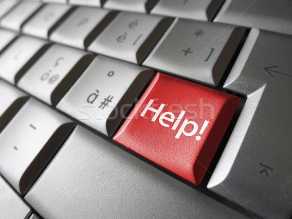 Help chiave pulsante testo segno rosso Foto d'archivio © NiroDesign