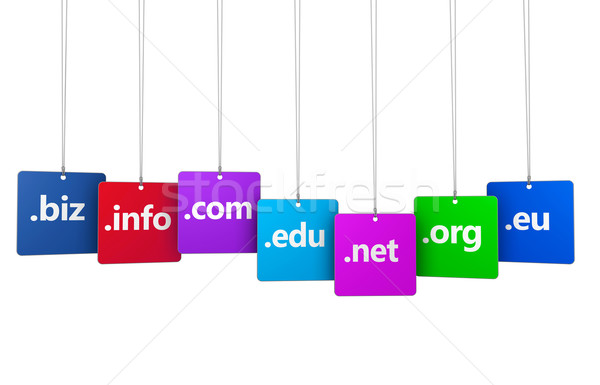 Internet dominio nombre web sitio web signo Foto stock © NiroDesign
