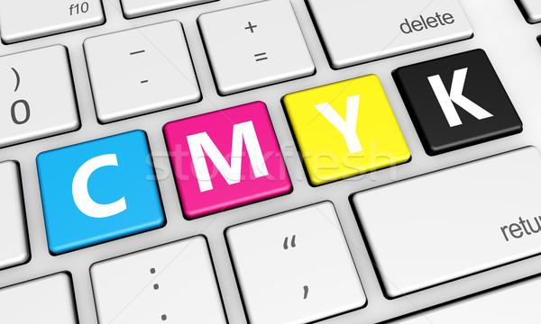Cmyk Digital Offset Printing Keys Concept Stock photo © NiroDesign