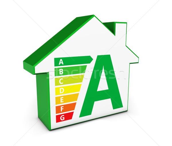 Groene energie huis icon onroerend business milieu Stockfoto © NiroDesign