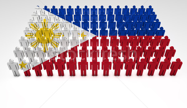 Philippines Flag Parade Stock photo © NiroDesign