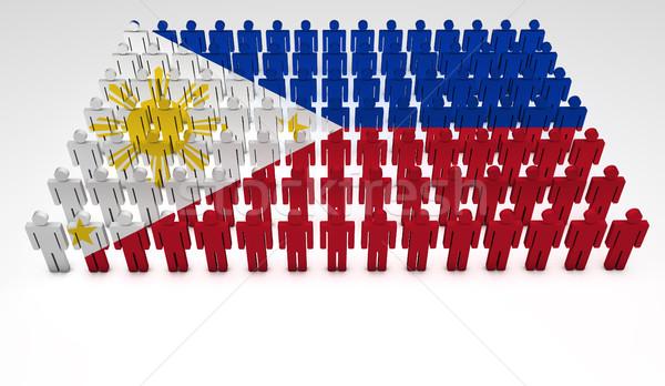 Philippines pavillon défilé gens 3d haut vue Photo stock © NiroDesign