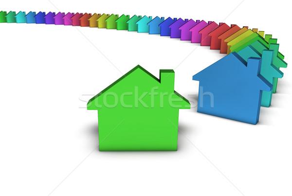 Zdjęcia stock: Ikona · kolorowy · twórczej · domu · usług