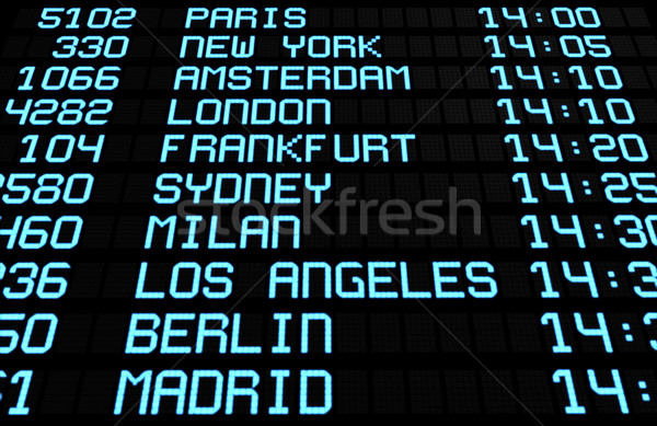 Airport Board Display International Destinations Stock photo © NiroDesign