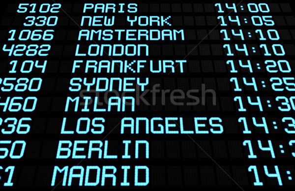 Aéroport bord écran internationaux destinations départs Photo stock © NiroDesign
