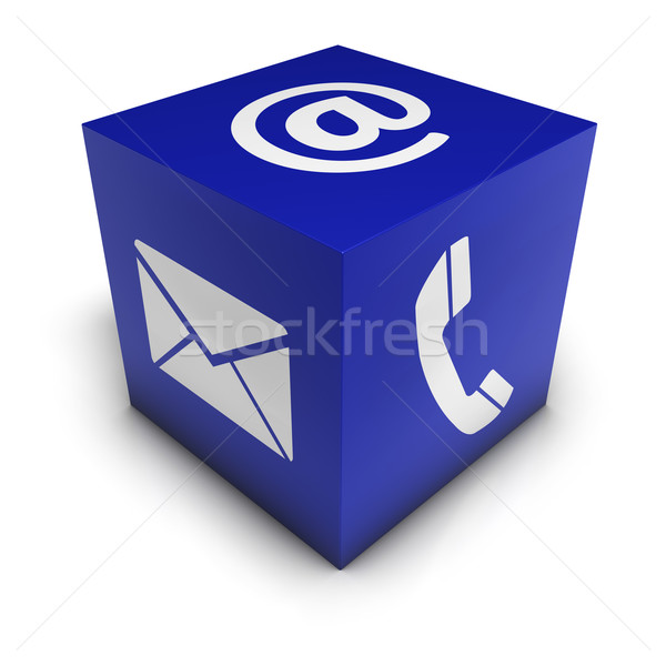 Cubo web internet icona Foto d'archivio © NiroDesign