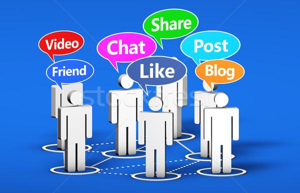 Social Media Online Community Stock photo © NiroDesign