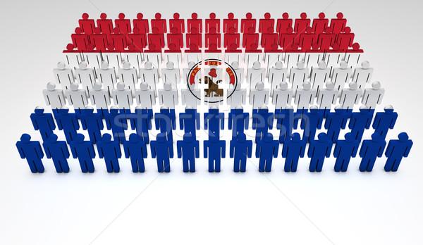 Paraguayan Flag Parade Stock photo © NiroDesign