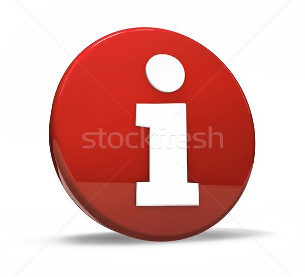 Red Info Symbol Button Stock photo © NiroDesign