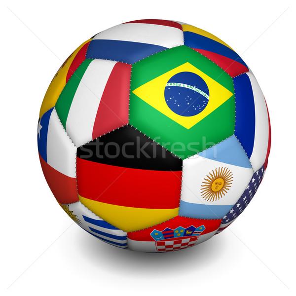 Football World Cup Soccer Ball Stock photo © NiroDesign