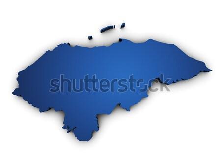Mappa Honduras 3D colorato blu Foto d'archivio © NiroDesign