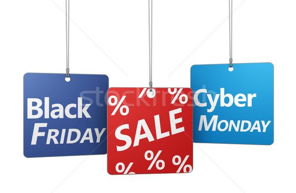 Black friday vendita shopping segno cento simbolo Foto d'archivio © NiroDesign