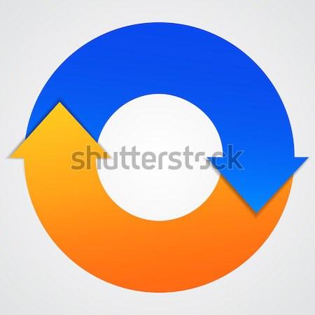Сток-фото: вектора · бизнеса · жизни · цикл · Стрелки · диаграмма