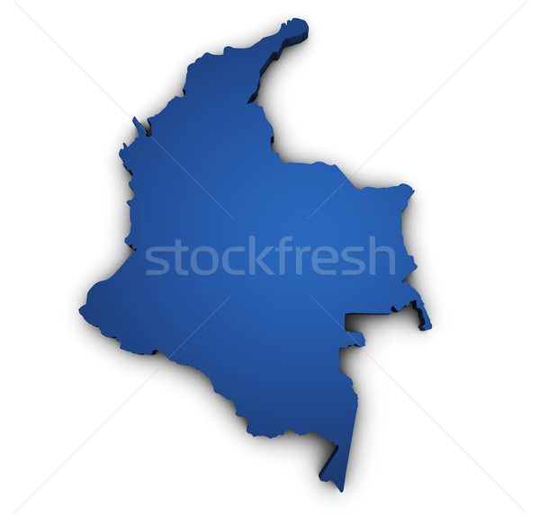 Map Of Colombia 3d Shape Stock photo © NiroDesign