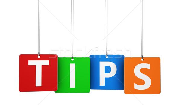 Tippek szó címkék weboldal internet blog Stock fotó © NiroDesign