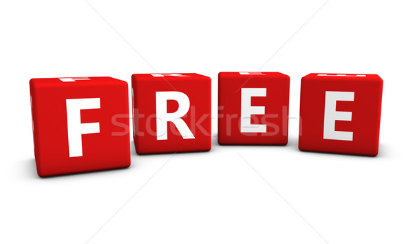 Free Sign On Red Cubes Stock photo © NiroDesign